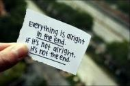 everything's alright in the end